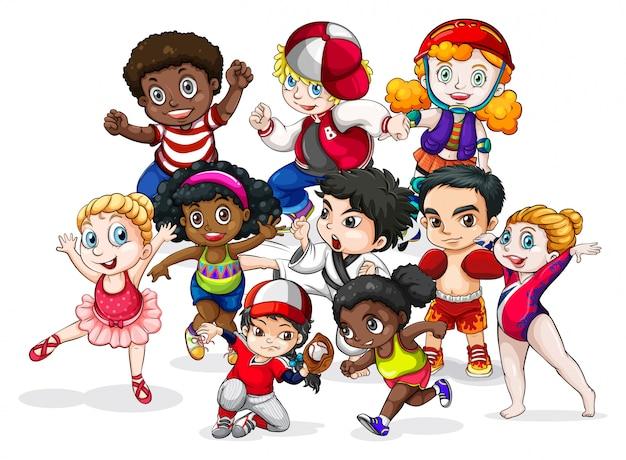 Детская группа Бесплатные векторы