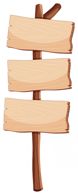 Пустой деревянный знак объекта Бесплатные векторы