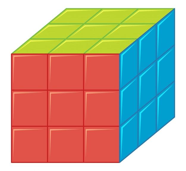 Изолированный кубик рубик Бесплатные векторы