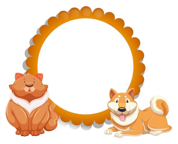 Кошка и собака Бесплатные векторы