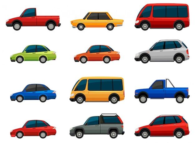 Набор транспортных средств Бесплатные векторы