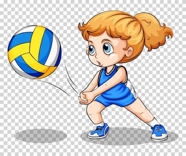 Волейболист на прозрачном Бесплатные векторы