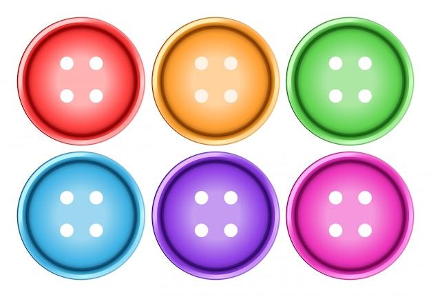 ボタンセット 無料ベクター