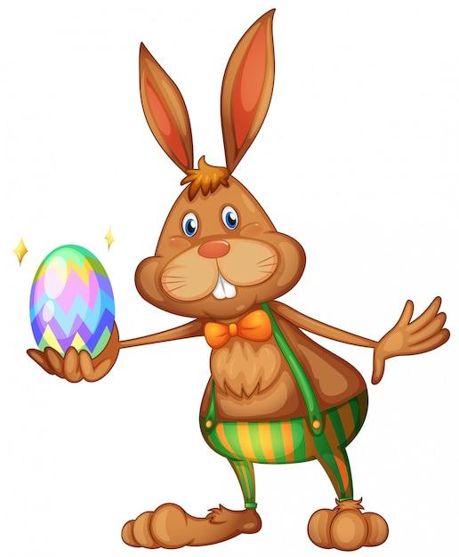 イースターのウサギ Premiumベクター