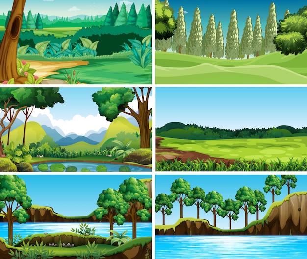 空の、空白の風景自然シーン 無料ベクター