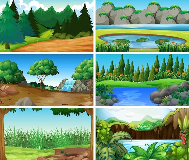 空、空白の風景、自然の風景や背景 無料ベクター