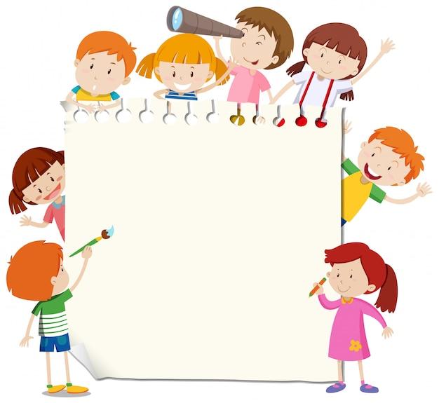 Рамка со счастливым ребенком Бесплатные векторы