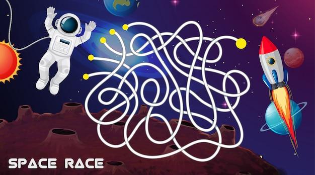 宇宙レースゲームの背景 無料ベクター