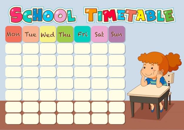 Расписание занятий с учеником Бесплатные векторы