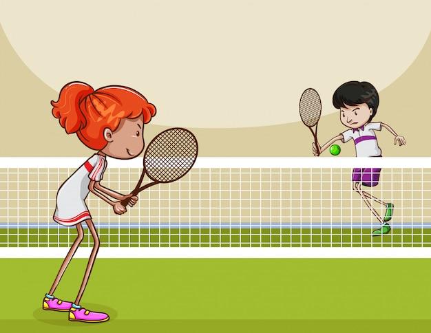 Большой теннис Бесплатные векторы