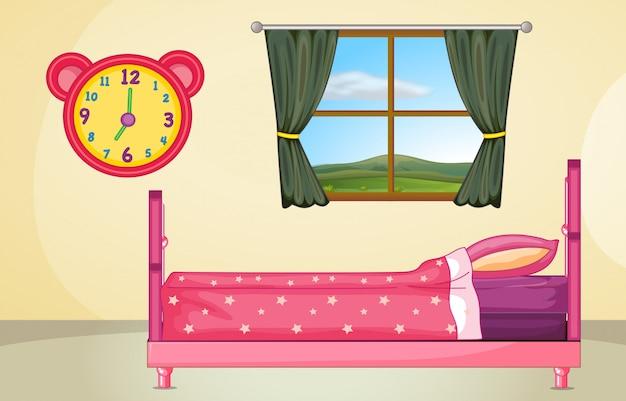 Обстановка спальни Бесплатные векторы