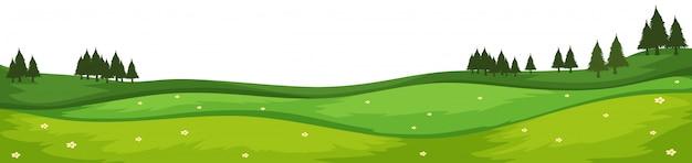 自然環境風景シーン 無料ベクター