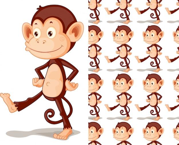 猿動物パターン漫画 無料ベクター