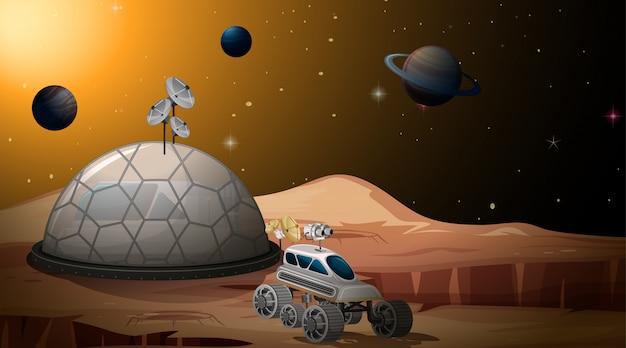 Марс лагерь сцена Бесплатные векторы