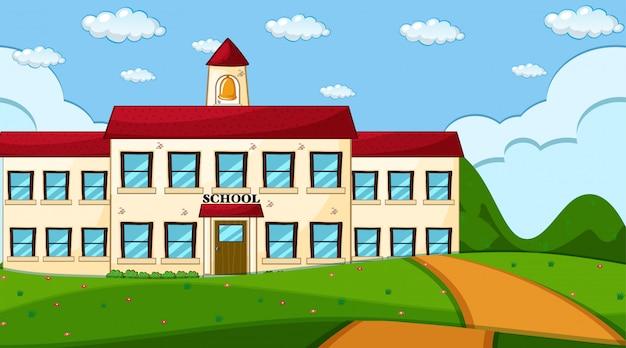 Сцена здания школы Бесплатные векторы