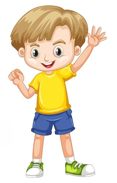 Милый счастливый улыбающийся ребенок изолирован Бесплатные векторы