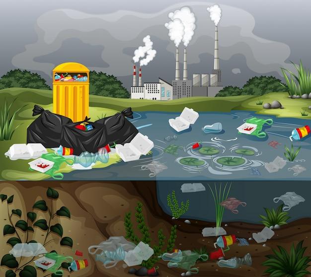 Картинки загрязнение воды детские