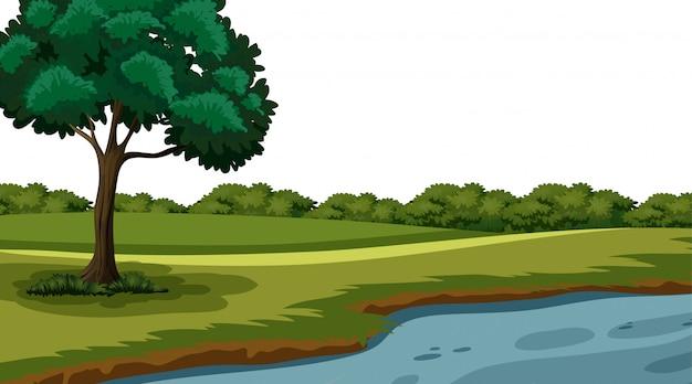 空の背景の自然の風景 無料ベクター