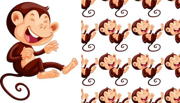 Мультяшный обезьяна Бесплатные векторы