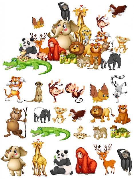 多くの動物 無料ベクター