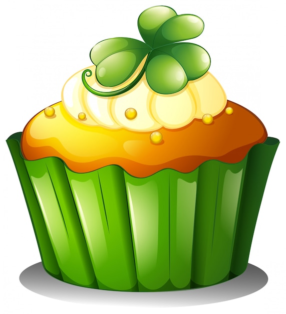 聖パトリックの日のカップケーキ 無料ベクター