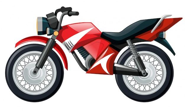 赤い色のオートバイのイラスト 無料ベクター