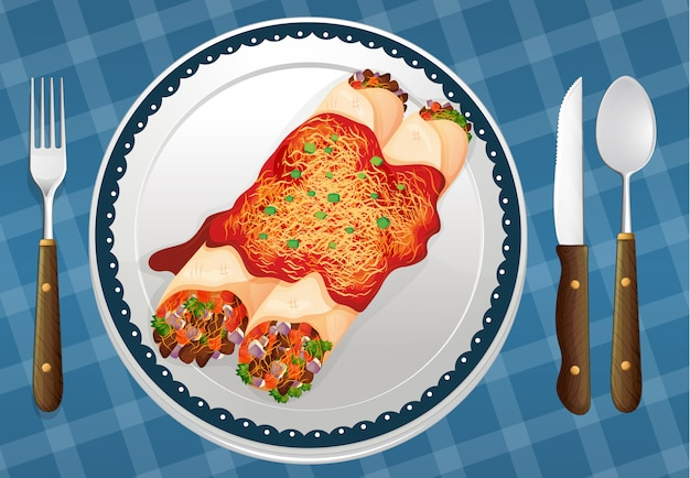 Еда и блюдо Бесплатные векторы