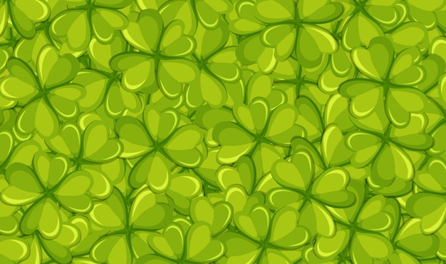 Фон шаблон с зелеными листьями Бесплатные векторы