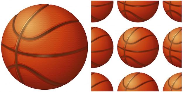 白で隔離されるバスケットボール 無料ベクター