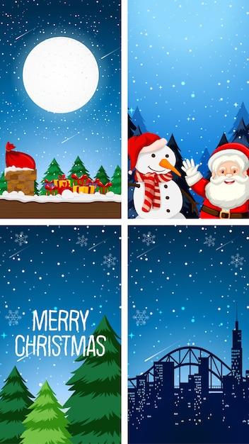 クリスマスの壁紙のテーマ 無料ベクター