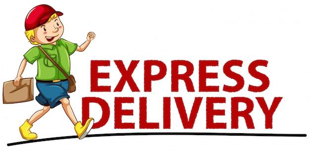 Экспресс доставка баннер Бесплатные векторы