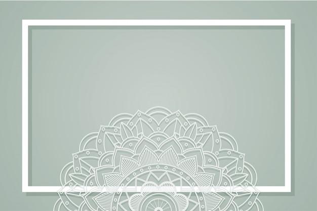 マンダラデザインと灰色の背景 無料ベクター