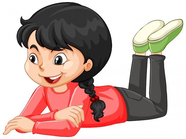 Девушка в красной рубашке Бесплатные векторы