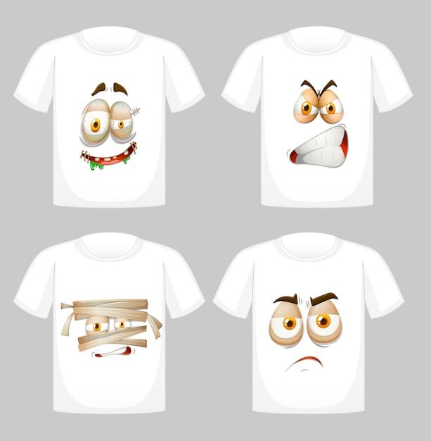Дизайн футболки с рисунком спереди Бесплатные векторы