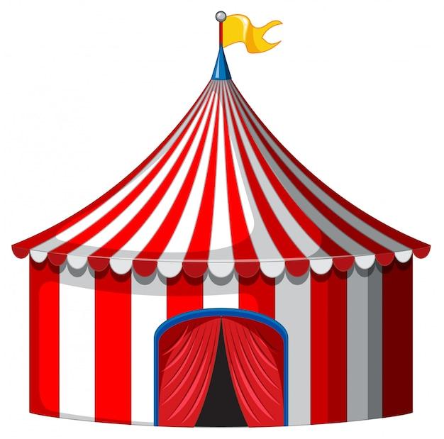 Цирк-шапито в красно-белом цвете Бесплатные векторы