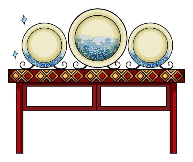 Тарелки в китайском магазине Бесплатные векторы