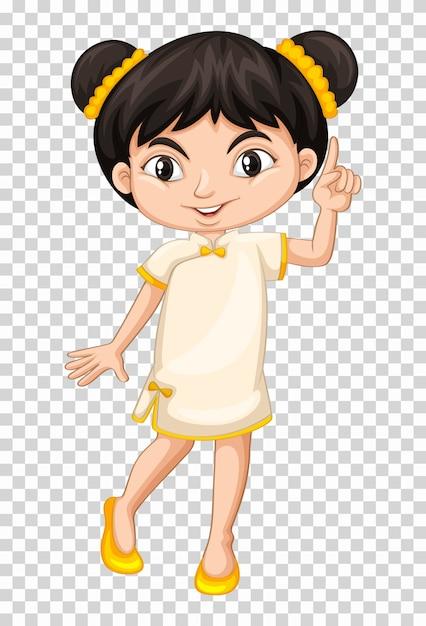 中国の衣装の少女 無料ベクター