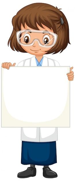 分離のサインを保持している科学の学生 無料ベクター
