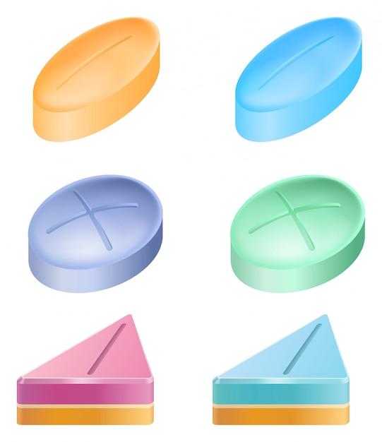 薬のさまざまな形 無料ベクター