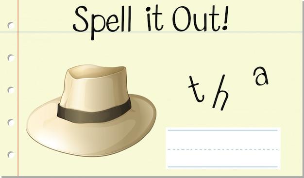 帽子を綴る 無料ベクター