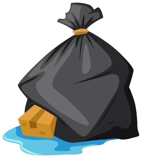 濡れた床のゴミ袋 無料ベクター