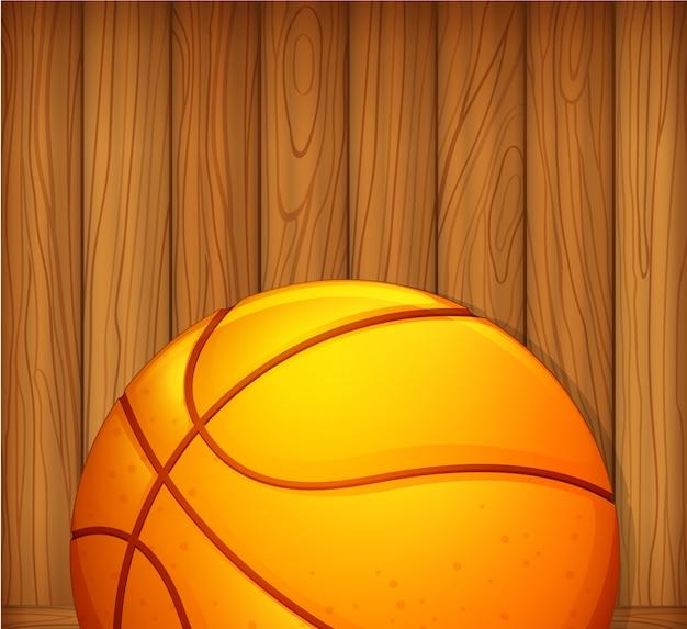 Мяч в деревянной стене Бесплатные векторы