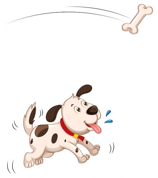 分離された骨の子犬キャッチ部分 無料ベクター