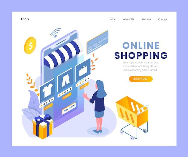 Целевая страница интернет-магазина Premium векторы
