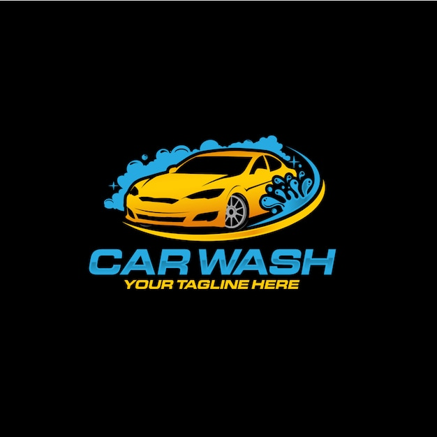 洗車のロゴデザインプレミアムベクトル Premiumベクター