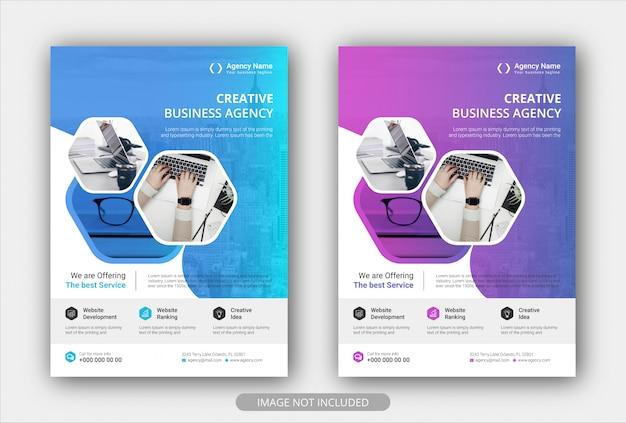 Корпоративный бизнес флаер шаблон плаката с градиентным цветом. брошюра дизайн обложки фон макета Premium векторы