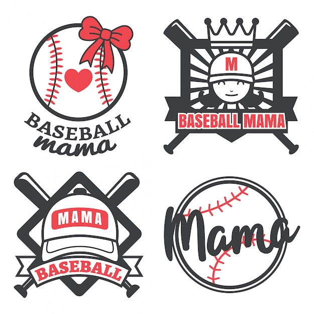 野球ママ Premiumベクター
