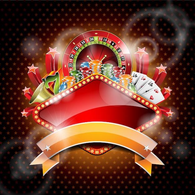 カジノの背景デザイン 無料ベクター