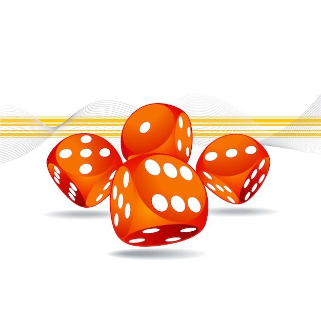 Дизайн казино фон Бесплатные векторы