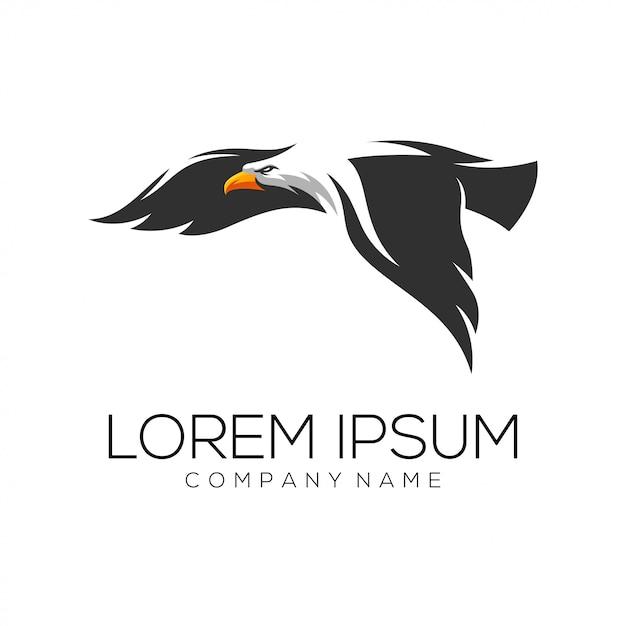 イーグルのロゴデザインのベクトル Premiumベクター